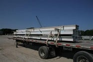 Flat trailer with three insulated wall panels