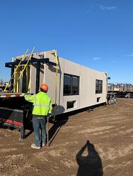 IES trailer with four IES panels with pre-installed windows