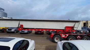 Pole Trailer with 100' long double tee